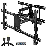 TV Wall Mount for Most 32-80 inch Flat Screen/Curved TVs, Full Motion TV Mount Bracket Dual Swivel Articulating Tilt 6 Arms,Max VESA 600x400mm, Holds up to 110 lbs, Up to 24