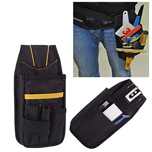 Bolsa de cinturón de herramientas,Portaherramientas Multiusos con Ajustable Correa de Cintura,Perfecto para Brivolaje Electricistas Carpinteros y Constructores