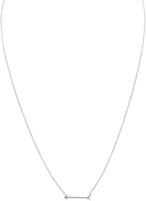 los últimos modelos Collar de plata de de de ley con flecha de 20 mm y cierre de mosquetón de 40 cm + 5 cm de extensión  minorista de fitness