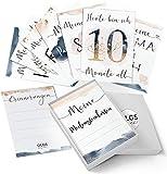 40+1 Baby Meilensteinkarten Golden Glamour Splash schöne Geschenkidee zur Geburt, werdende Mutter, Babyparty Milestone Cards Meilenstein Karten Geschenkset + Geschenkbox - Baby Momente
