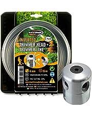 Black Tornado Tools Cabezal Desbrozadora Universal Profesional de Aluminio - 15 m de Hilo Ultraresistente - Giro horario
