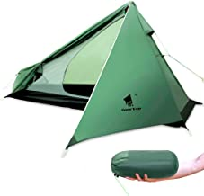 GEERTOP Ultralight 1 Person Backpacking Tent 3 Season Camping Tent for Camp Hiking Travelling - Single Trekking Pole Tent (Not Include the Pole) Easy to Set Up