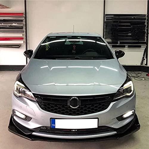 NCUIXZH Parachoques Delantero de Coche, 3 Piezas, difusor Negro, Kit de carrocería, alerón, para Accesorios Opel Vauxhall Astra K