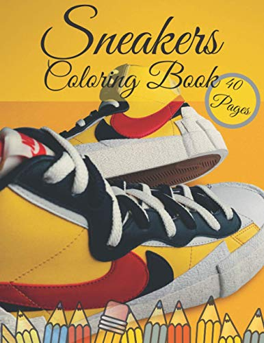 Sneaker Coloring Book: Created Da Vinci Unlimite Ilustration, Amazing Fashion Air Jordan, Teens Urban Drawing Colouring For Kids, Adults, Women, ... Sketchbook, Loves Relieving Sneakerhead,