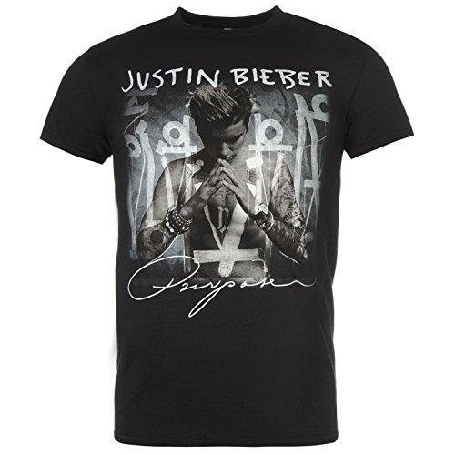 Official Men Bieber T Shirt Herren Baumwolle Kurzarm T-Shirt Top Herrenmode Purpose L