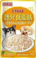 (まとめ買い)いなばペットフード いなば 贅沢低脂肪 とりささみ&名古屋コーチン 60g 犬用フード 【×32】