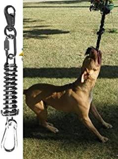 Spring Pole Dog Rope Toys Muscle Builder a Big Spring Pole Kit, for Pitbull & Medium to Large Dogs Outdoor Hanging Exercise Rope Bully Pull & Tug of War Toy Rope NOT Included