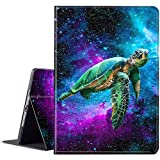 Galaxy Tab S7 11 inch Case 2020 (SM-T870/T875/T876), BEROSET PU Leather Smart Cover with Adjustable Stand & Auto Wake/Sleep for Samsung Galaxy Tab S7 11 inch 2020 Release - Galaxy Green Turtle