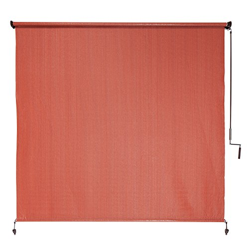 Coolaroo Exterior Roller Shade, Cordless Roller Shade with 90% UV Protection, No Valance, (6' X 6'), Terracotta,461997