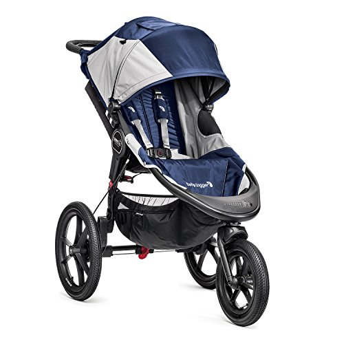 Baby Jogger Summit X3-3-Rad-Kinderwagen, Single-Modell, Blau/Grau