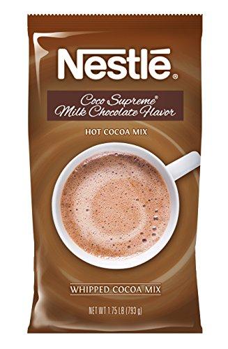 Nestle Hot Chocolate Mix, Hot Cocoa, Milk Chocolate Coco Supreme Flavor, Bulk Whipped Cocoa, 1.75 lb. Bag
