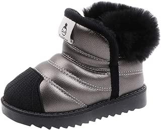 FWEIP Kids Snow Boots Waterproof Plus Velvet Cotton Short Boots Boys Girls Winter Warm Shoes Sneaker