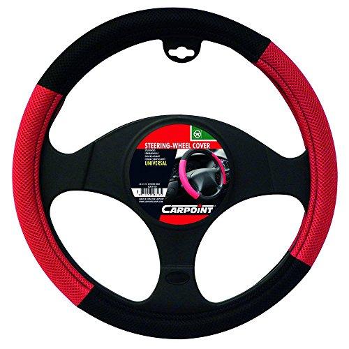 Carpoint 2510110 Couvre Volant X-Treme Mesh Noir/Rouge