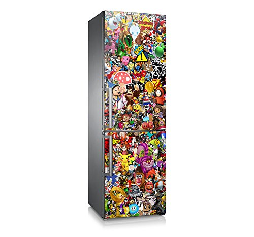 Vinilo para nevera | Stickers Fridge | Pegatina Frigo | Cartoon (185x60)