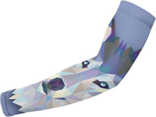 MHBZRDAZ96 Wolf Sports Arm Sleeves Unisex Arm Sleeves UV Sun Protection Sleeves Arm Cooling Sleeves Ice Silk Arm Cover for Men Women Outdoor Summer Supplies