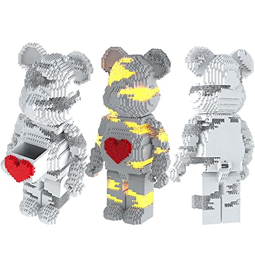 2480pcs Bearbrick Creative Assembling 3D Building Blocks DIY Juguetes educativos Regalos hechos a mano para adultos Niños Navidad Halloween Día de San Valentín Regalo de cumpleaños