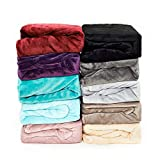 Malika® kuschelige Cashmere-Touch Spannbettlaken Jersey Fleece Spannbetttuch Bett, Kinderbett Couch...