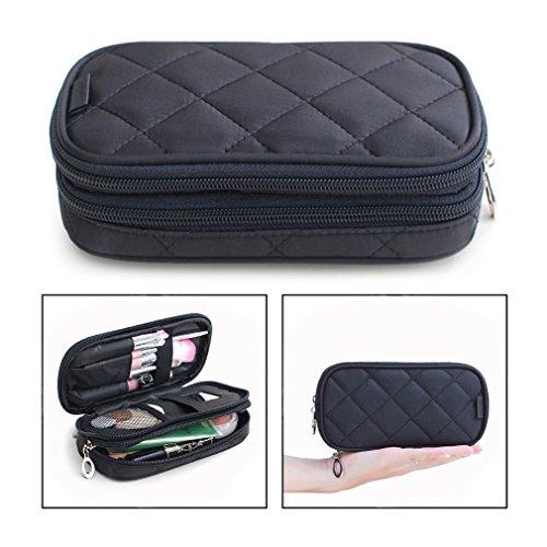 OFKPO Estuche para Maquillaje para Mujer, Organizador de Viaje con 2 Compartimentos,...