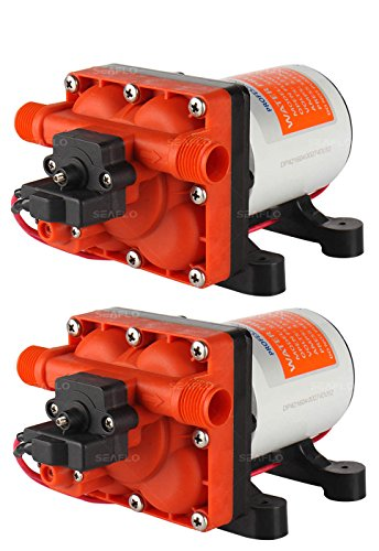Seaflo Dual 42 Series 12V 6.0 GPM 55 PSI Water Pressure Diaphragm Pump System with Internal Bypass Valves to reduce cycling