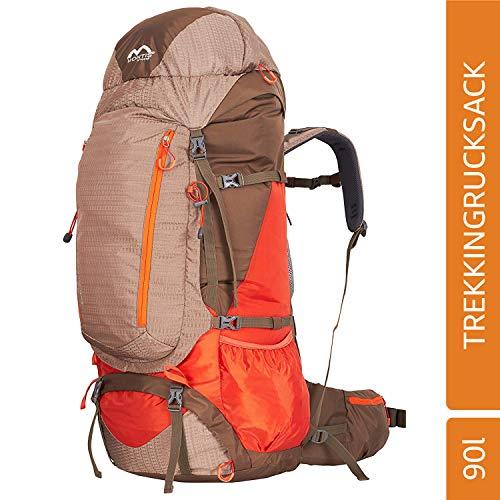 MONTIS BLUERIDGE 85+5 Unisex Trekking-Rucksack, Wander-Rucksack & Reise-Rucksack in einem, ermöglicht Dank Regenschutz auch Wander-, Bike- & Campingtouren, moderner Look mit Belüftungssystem