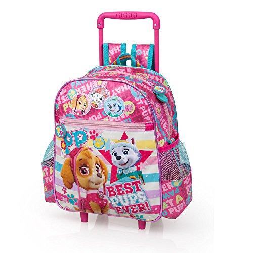 Novità scuola zaino trolley asilo PAW PATROL bambina cm 29x25x11 cm