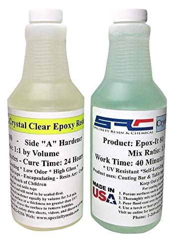 Crystal Clear Bar & Table Top Epoxy Resin For Coating...