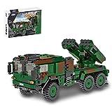 LALAmi Coche militar WW2, escala 1:30 MLRS de carga militar, camiones 986, multibalísticos, cohete, vehículo militar, compatible con Lego Technic