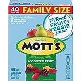 Mott's Medleys Fruit Snacks, Assorted Fruit Gluten Free Snacks, Family Size, 40 Pouches, 0.8 oz Each (2 Pack(40 Pouches))