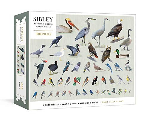 Sibley Backyard Birding Puzzle: 1000-Piece Jigsaw Puzzle with Portraits of Favorite North American...