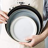 Juego de Platos, Conjuntos de vajillas de cerámica de 46 Piezas, Servicio para 2-10, Conjuntos de Platos con Platos de Cena/Cuencos/Placas de Sopa/y platillos/Tazas de Desayuno, Porcelana de g