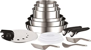 Tefal Ingenio Preference Batterie de cuisine 15 pièces induction, Casseroles (non revêtues), Poêles revêtues, Couvercles a...