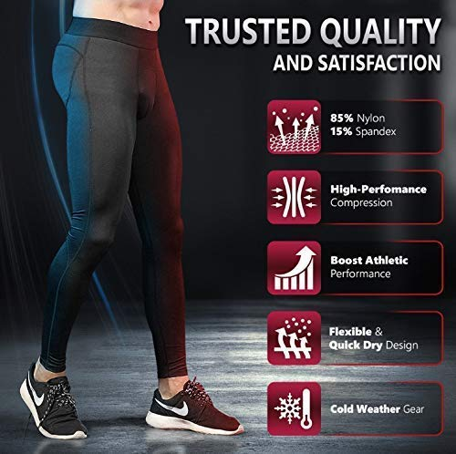 Self Pro Compression Pants Men Baselayer Underwear Winter Cold Weather...