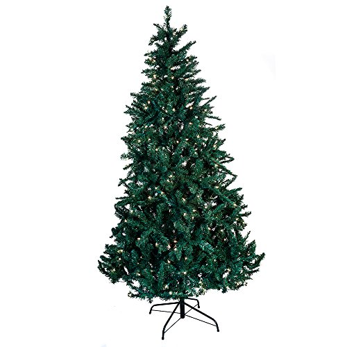 Kurt Adler Pre-Lit Point Pine Christmas Tree, 7-Feet, with 350 Clear Lights