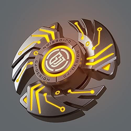 Luminoso metal aleación extra larga tiempo iluminar fidget spinner rodamiento de acero inoxidable aleación de zinc cuerpo ansiedad alivio juguetes de alivio único dedo dedo dedo dedo gyro mano hi