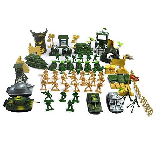 Black Temptation Mesa de Arena Modelo Toy Cars / Trucks / Tank Kids Toy Plastic Soldiers Gifts-100 PC