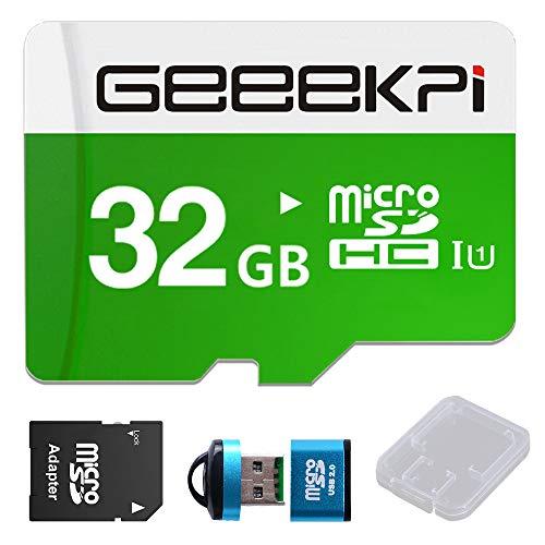 GeeekPi 32 GB vorinstallierte (Noobs) SD-Karte für Raspberry Pi, Klasse 10 MicroSDHC-Speicherkarte mit Kartenleser für alle Raspberry Pi Modelle