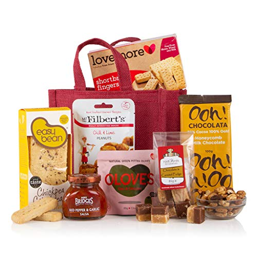 Gluten & Wheat Free Goodies Jute Bag - Gift for Coeliacs - Gluten Free Hamper Gift