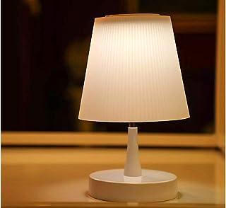 LEDLUX Lámpara LED de escritorio de 4 W recargable blanco cálido 3000 K Touch Dimmer regulable 3 intensidades redondo cilindro