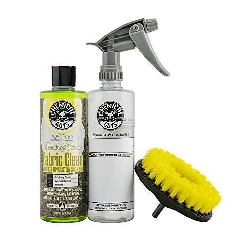 Chemical Guys HOL315 Foaming Citrus Fabric Clean Carpet and Upholstery Cleaning Kit with Drill Brush and Spray Bottle (3 Items)