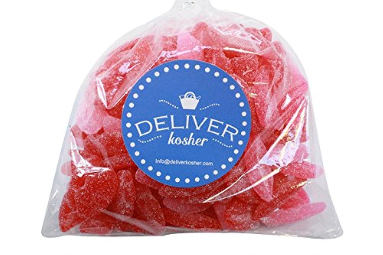 Deliver Kosher Bulk Candy - Sour Smooch Juju Lips - 1lb Bag