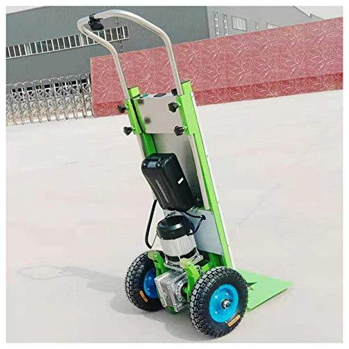 DXMRWJ Elektrisches Zusammenklappen 800w Treppensteigen Handwagenwagen Wagen, 550 lb maximale Last, für Logistiklieferung, Haushaltsabwicklung, Baustelle
