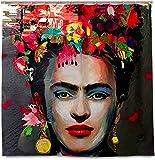 RosieLily Frida Kahlo Mexiko-Kunst-duschvorhang Für Badezimmer, Wohnkultur Mit 12 Haken, Polyester-gewebe-maschinenwaschbare wasserdichte Duschvorhänge-60x72 Zoll(Size:60x72 inch)