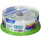 Verbatim バーベイタム 1回録画用 ブルーレイディスク BD-R 25GB 20枚 ホワイトプリンタブル 片面1層 1-6倍速 VBR130RP20SV1