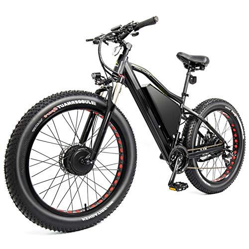 Bicicleta electrica, BIK ELÉCTRICO DE FATERA Tire 750W-2000W hasta 50 km/h 26 Pulgadas Neumático de Grasa E-Bicicleta E-Bike 21 Velocidades Playa Cruiser Deportes Montaña Bicicletas de montaña Suspe