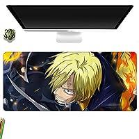 鼠标垫 大型 桌垫 PC垫 超大型 游戏鼠标垫 时尚 防水 耐久性 防滑 办公室 游戏 海贼王-A_700x300MM