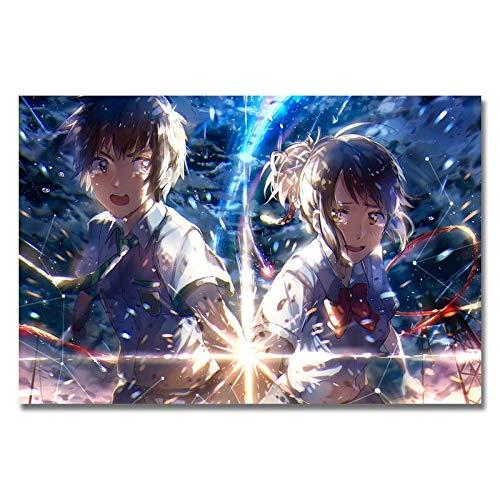 Puzzle 1000 Piezas Anime Tu Nombre Art Silk Picture en Juguetes y Juegos Gran Ocio vacacional, Juegos interactivos familiares50x75cm(20x30inch)