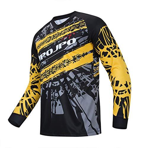 Hotlion Camiseta de ciclismo de manga larga para hombre, transpirable, cómoda, suave, absorbe la humedad, para ciclismo, Cd9531-lj, L