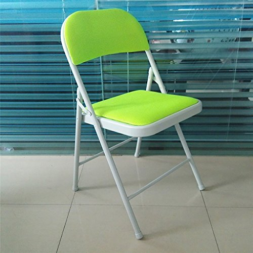 Chaise pliante Chaise de conférence portable en couleur Chaise de bureau Table à manger Chaise de dossier (Couleur : Vert)