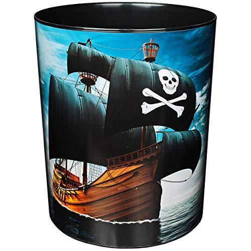 Papierkorb / Behälter - Pirat - Piratenschiff - 12,5 Liter - wasserdicht - aus Kunststoff - 30 cm - großer Mülleimer / Eimer - Abfalleimer - Aufbewahrungsbox ..