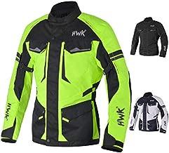 Adventure/Touring Motorcycle Jacket For Men Textile Motorbike CE Armored Waterproof Jackets ADV 4-Season (Hi-Vis Green, 2XL)